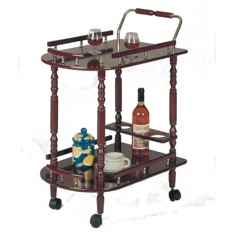 3512 Serving Cart with Brass Accents