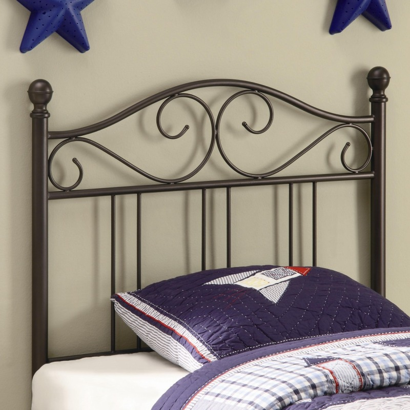 Youth Headboards Transitional Twin Metal Headboard