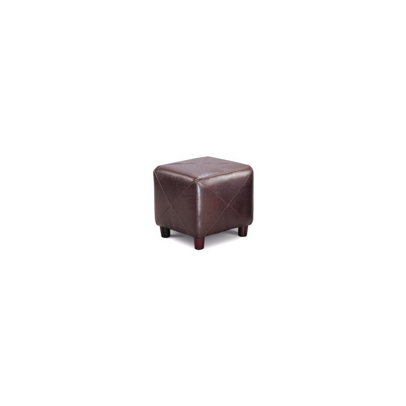 Ottomans Contemporary Faux Leather Cube Ottoman