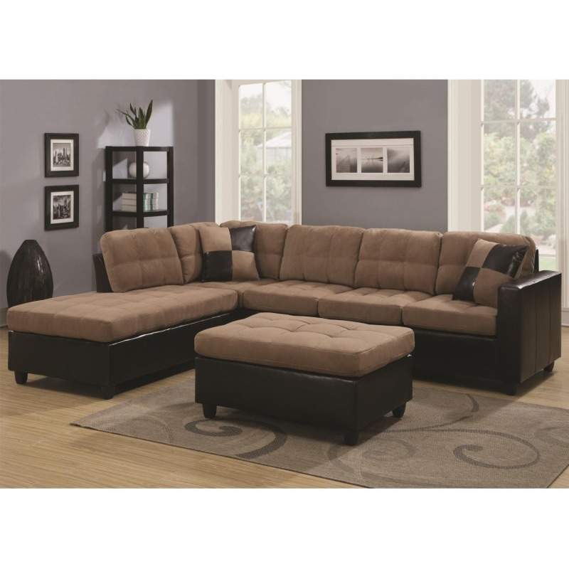 Mallory Reversible Sectional with Casual and Contemporary Style