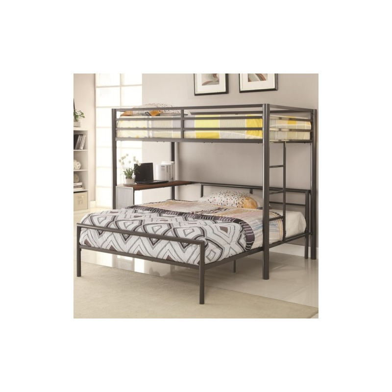 Bunks Metal Twin-over-Full Workstation Loft Bed
