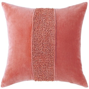 "Topaz Newport Red Pillow 22"" x 22"""