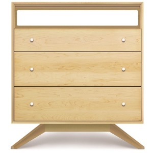 Astrid 3 Drawer + TV Organizer in Maple