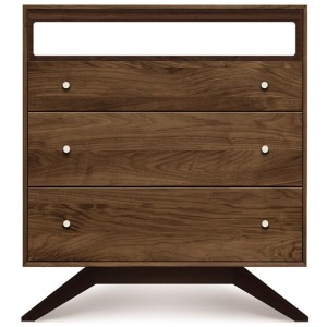 Astrid 3 Drawer + TV Organizer in Walnut and Dark Chocolate Maple