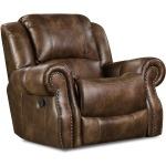 Waylon Mocha Recliner w/Power Headrest