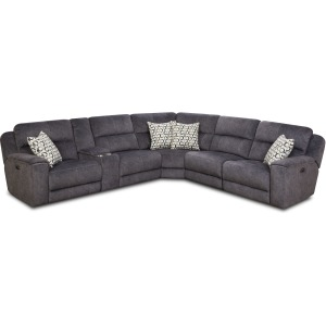 6 PC Reclining Sectional w/Power Headrests