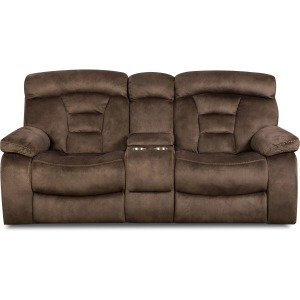 Arrowhead Bark Reclining Loveseat w/Console