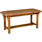 Monarch Bench w/ Bonded Leather Seat