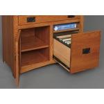 Mission Large Secretary Desk w/ File Drawer