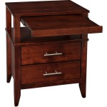 Contemporary 2 Drawer Nightstand w/ Pullout Tray