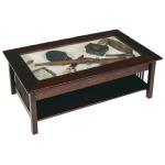 Mission Large Glass Coffee Table