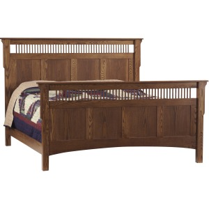 Deluxe Mission King Size Bed
