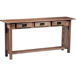 Mission 3 Drawer Sofa Table