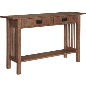 Mission Sofa Table w/ 2 Drawers