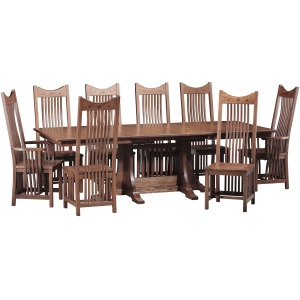 Mission Lg. Dining Table w/ 4-12