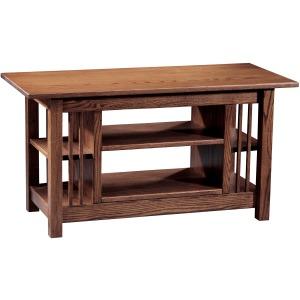 Mission Entertainment Table w/ Adj. Shelf