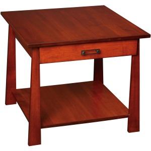 Craftsmen Large End Table w/ Drawer