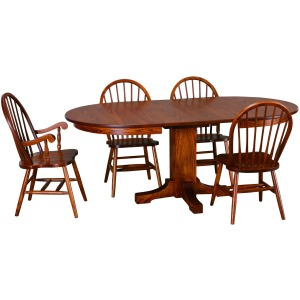 Mission Oval Dining Table w/ 2-12