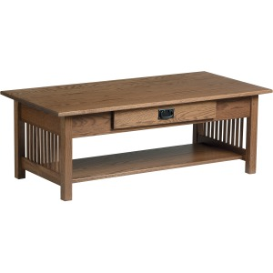 Mission Large Coffee Table with Drawer