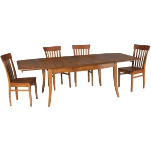 Transitional Dining Table (w/ 3-12