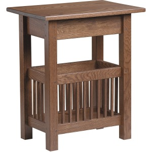 Mission Magazine End Table