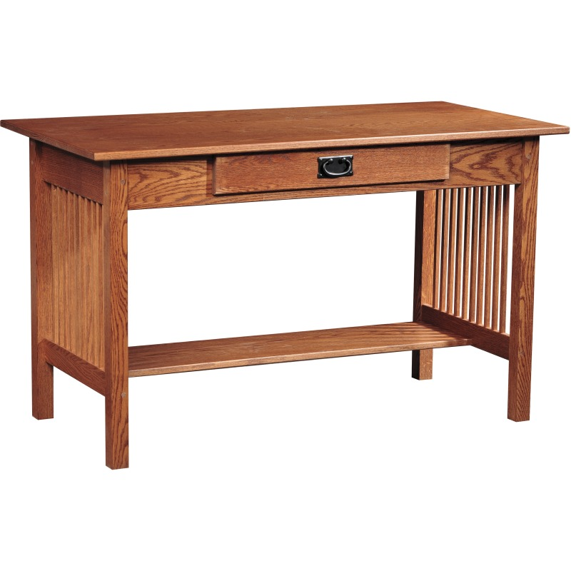 Mission Library Desk with Keyboard Drawer