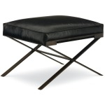Dasha Small Ottoman w/Metal Base