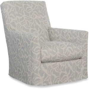 Malcolm Slipcovered Swivel Chair