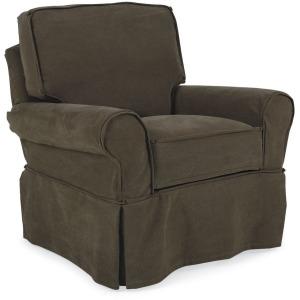Hudson Slipcovered Swivel Glider Chair