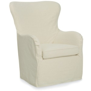 Cayden Slipcover Swivel Chair