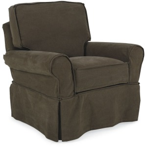 Hudson Slipcover Swivel Chair