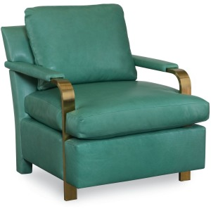 Elle Chair w/Brass Arms