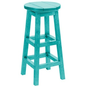 Swivel Bar Stool - Turquoise