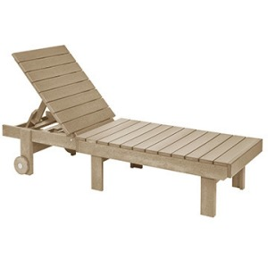 Chaise Lounger with Wheels
