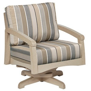 Bay Breeze Coastal Swivel Arm Chair