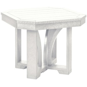 "24"" Square End Table - White"