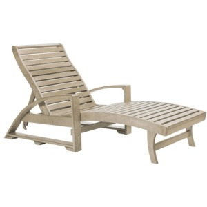 Chaise Lounger with Hidden Wheels