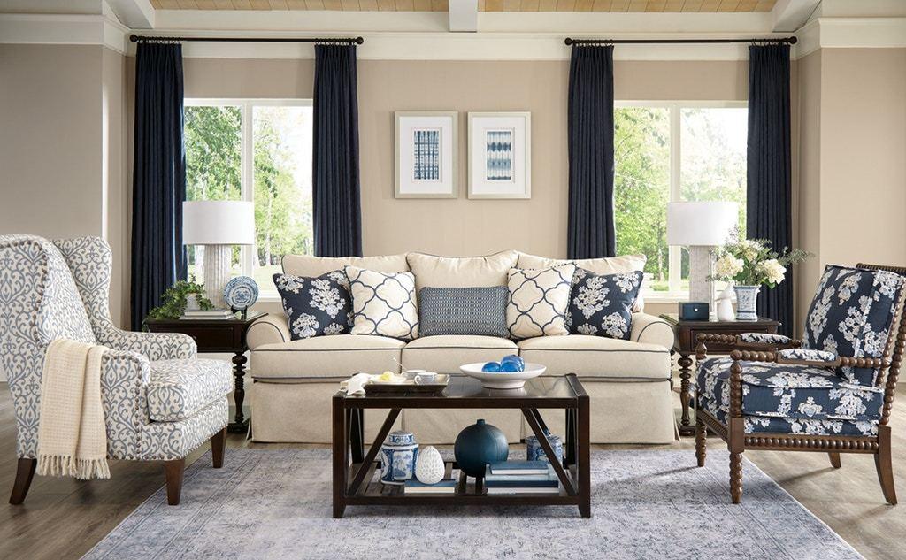 Paula Deen Three Cushion Sofa, Paula Deen Living Room
