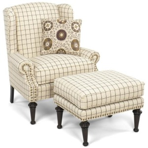 Chair shown with Ottoman