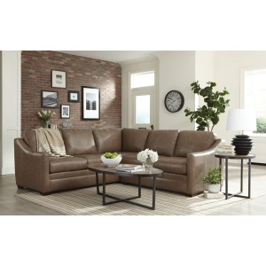 2 PC Leather Sectional