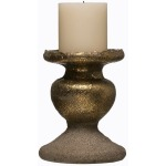 Terra-cotta Candle Holder, Gold Finish