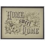 "Metal Framed Wall Decor ""Home Sweet Home"""