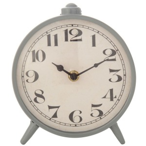 Metal Mantel Clock - Grey