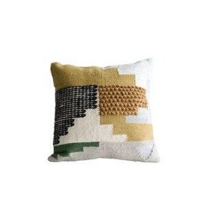 "20"" Square Wool Pillow, Kilim Pattern"