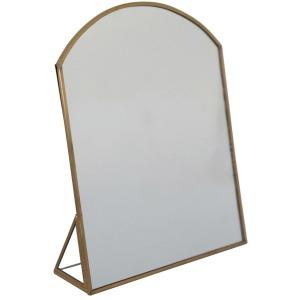Metal Framed Standing Mirror, Brass Finish