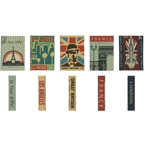 MDF & Canvas Book Storage Box - 5 Styles