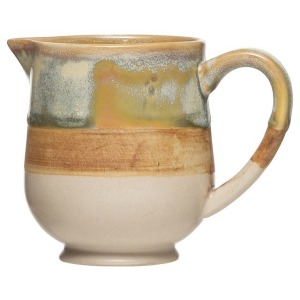 Stoneware Creamer - Reactive Glaze Multi Color