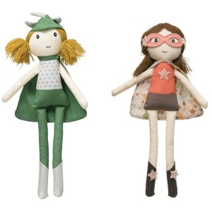 Cotton Superhero Girl Doll - 2 Styles