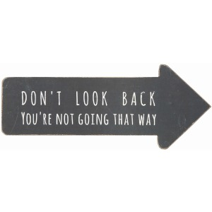 "MDF Arrow Shaped ""Don't Look Back"" Wall Dcor"