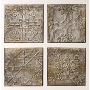 Embossed Tin Tile Antique Grey Finish 4 Styles